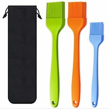 Basting Brush Silicone Heat Resistant Pastry Brushes Spread Oil Butter (3) - $13.42