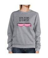 Keeping The Lumps Out Of My Cups Breast Cancer Grey SweatShirt - $20.99+