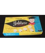 Vintage Yahtzee Game 1956 Original Box  Dice Chips pencils only - $26.99