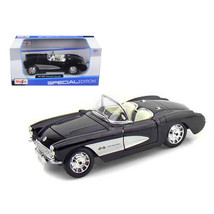 1957 Chevrolet Corvette Black 1/24 Diecast Model Car by Maisto 31275bk - $28.33