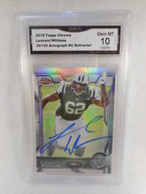 2015 Topps Chrome #130 39/150 Leonard Williams Auto Rookie GMA Graded Ge... - $16.78