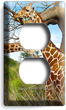 African Safari Giraffe Couple Love Animal Outlet Wall Plate Cover Room Art Decor - $8.99