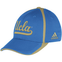 Adidas NCAA College UCLA BRUINS BLUE Football Curved Hat Cap Size S/M - $20.00