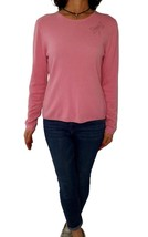 SAKS 5TH AVENUE L Pink Dragonfly Swarovski Embellished Cashmere Sweater - $47.52