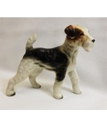 Jack Russell Terrier Dog Figurine Porcelain Made in Japan - $20.10