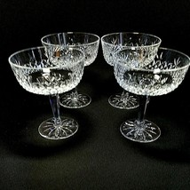 4 (Four) Lenox Beacon Hill Crystal Champagne / Sherbet Glasses - Signed Discont - $44.54