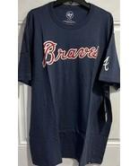 MLB Atlanta Braves T Shirt  Blue New Embroidered XL - $27.67