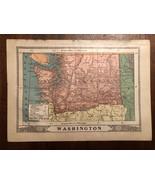 "Vintage Color WASHINGTON STATE Print Plate 6.5"" x 9"" Unframed - $14.00"
