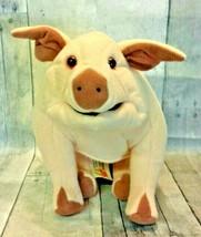 Folkmanis Pig Hand Puppet Large Full Body Plush Barnyard Farm Animal - $30.00