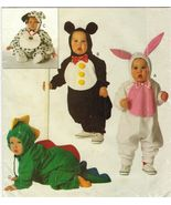 Infants Bunny Mouse Dino Puppy Animal Halloween Costume Sew Pattern 13-29 Lbs - $13.99