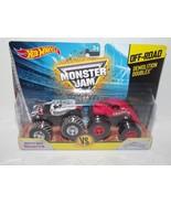 Hot Wheels Monster Jam Off-Road Demolition Doubles Dalmation vs Crustation  - $20.31