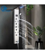 LED Shower Panel Stainless Steel Wall Mount Shower Column Panel Tower Sy... - $216.99