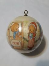 ** 1978 Precious moments Christmas ornament Ball - $10.99
