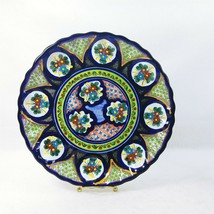 """Wall Plate Hand Painted Artisan Signed 12"""" - $50.69"""