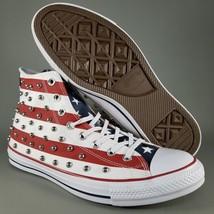 Converse CTAS Hi Studded Americana USA Flag Shoes Mens Size 10.5 Sneakers Chucks - $65.44