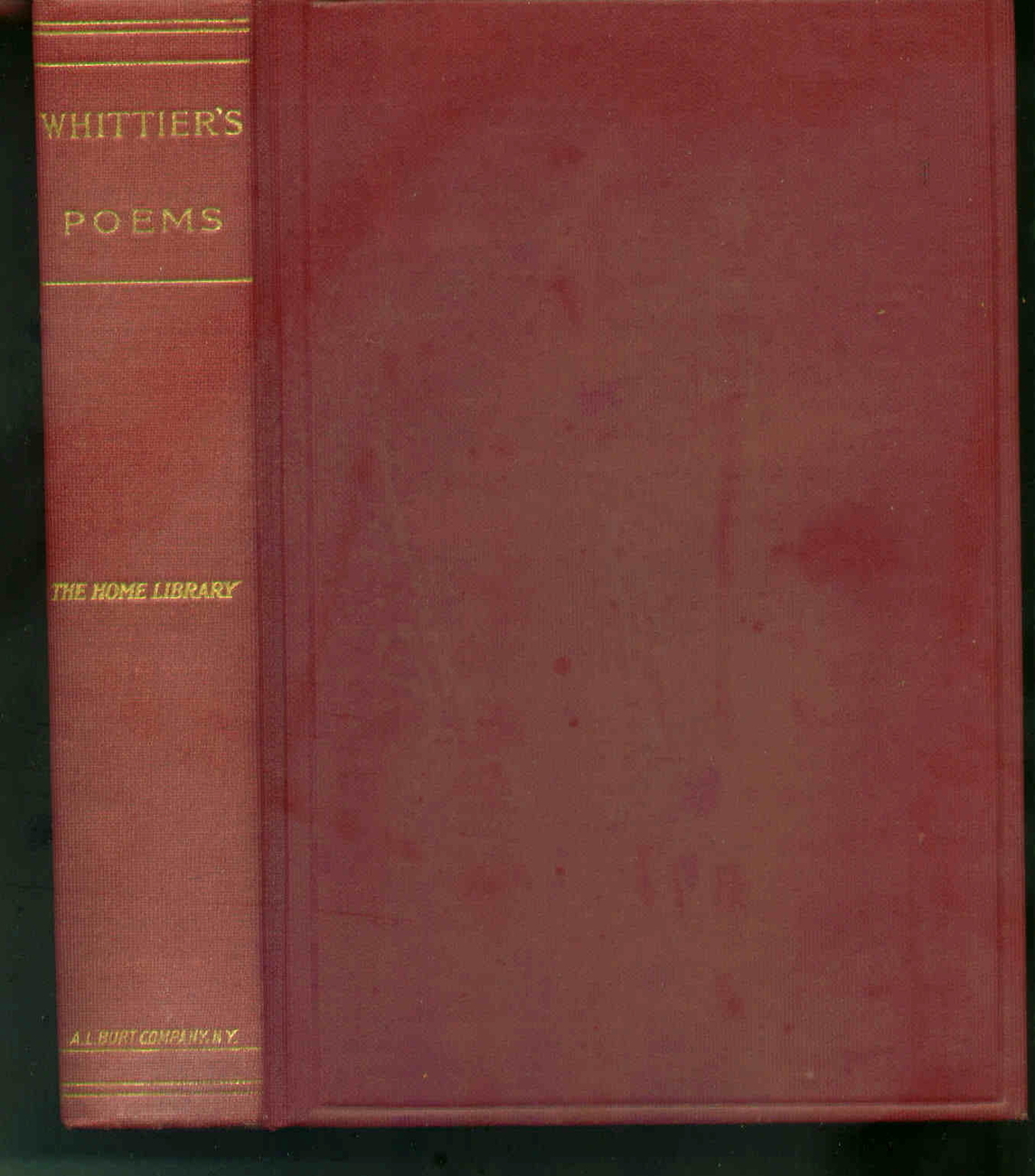 Whittier's Poems - John G. Whittier Hardcover 1904 collectible