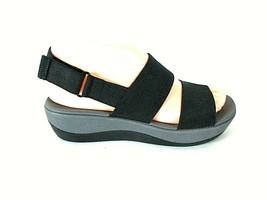 Clark's Cloud Steppers Black Slingback Open Toe Sandals Shoes Women's 6 ... - $49.99