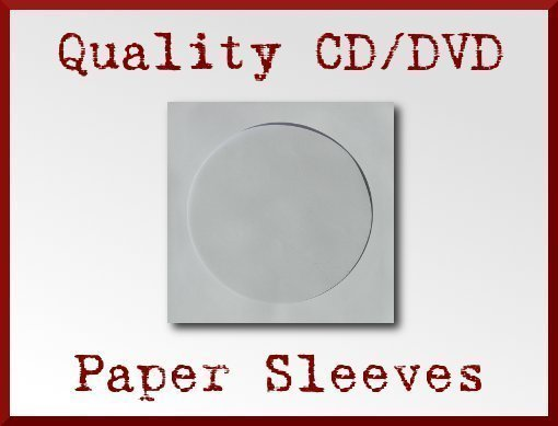 100 white cd dvd paper sleeve window flap 100g paper sleeves for 100 paper cd sleeves with window flap