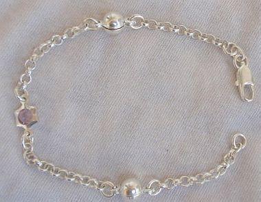 Purple star bracelet