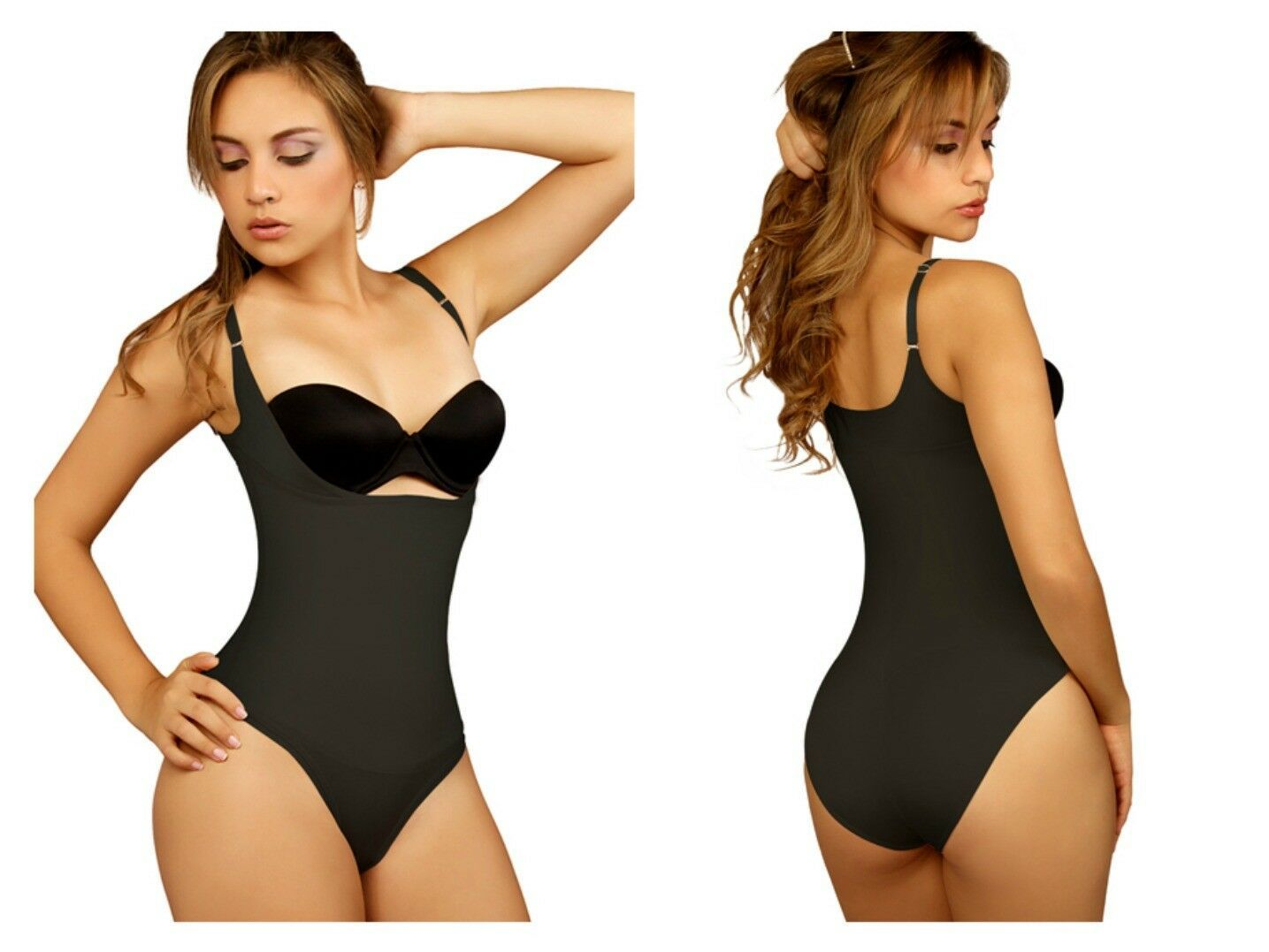 Fajas Reductoras Colombianas Firm Control Bodysuit with Bikini or Thong Bottom