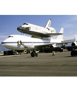 Space Shuttle Challenger on a Boeing 747 refuels at an Air Force base 8x... - $6.16