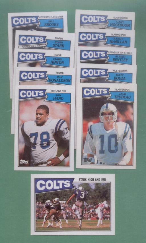 1987 Topps Indianapolis Colts Football Team Set