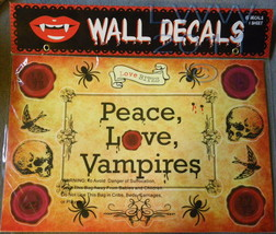Peace Love Vampires Wall Decoration Decals 15 decals on 1 sheet in Package  - $3.99