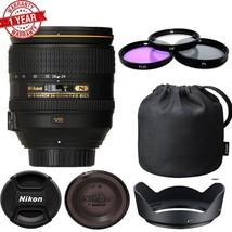 Nikon AF-S NIKKOR 24-120mm f/4G ED VR Lens (White Box) With 77mm Filter kit - $642.51