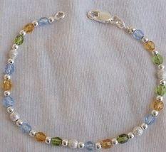 Colorful silver bracelet - $25.00