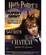 RUPERT GRINT of HARRY POTTER  @ CHATEAU Nightclub Las Vegas Card - $1.95