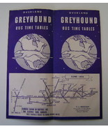 Pamphlet, Greyhound Bus Time Tables, Vintage 1956 - $10.00