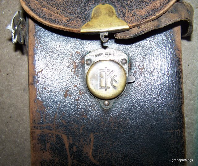 antique 1914 KODAK CARRYING CASE ONLY for a No. 1A pocket camera