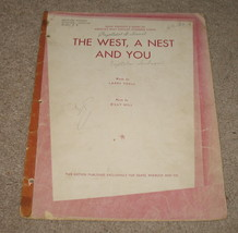 A West, A Nest And You Sheet Music - 1922 - Sears Roebuck   - $16.99