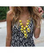 Spring Summer Sunshine Yellow Bubble Necklace. ... - $24.90