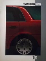 1993 Mercury TOPAZ brochure catalog US 93 GS Coupe HUGE - $9.00