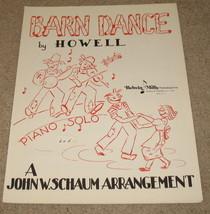 Barn Dance Sheet Music - 1944 - C. R. Howell - Piano Solo - $15.99