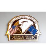Freedom Last Frontier Anchorage Alaska July 4 1989 Pin - $5.99