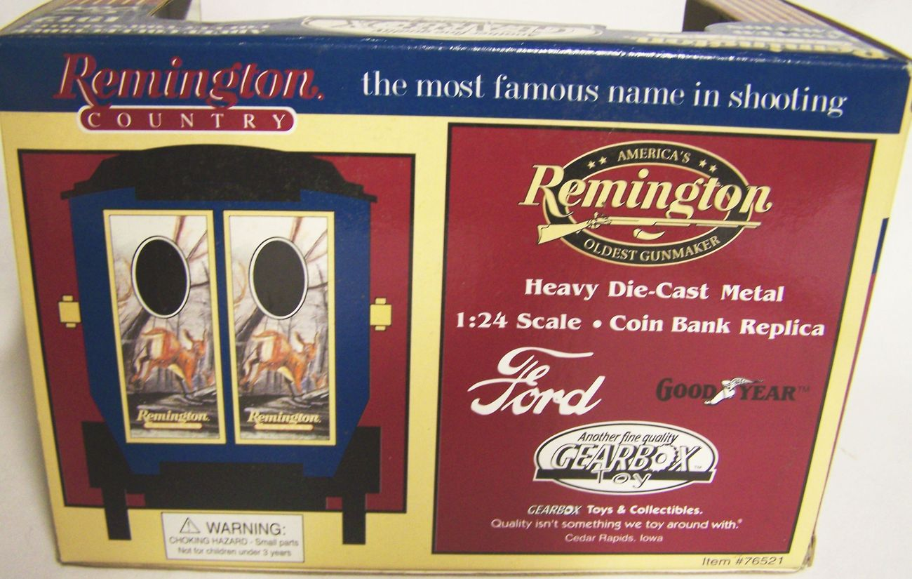 1999 REMINGTON COUNTRY 1912 FORD COIN-BANK REPLICA, NEW IN THE BOX