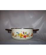 JMP Marketing Sweet Flowers Vintage Enamel Dutch Oven Pan - $40.00