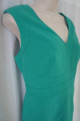 Anne Klein Pequeña Vestido 8P Kelly Verde con Textura A-Line sin Mangas Trabajo image 6