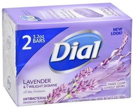 Dial Antibacterial Bar Soap, Lavender - Twilight Jasmine, 2pk 3.2 oz Bar... - $6.64