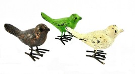 Three Vintage Cast Iron Birds – Iron Bird Figurines - $23.49