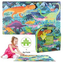 ZCGC Puzzles for Kids - Dinosaurs World Jigsaw Floor Puzzle - Large 16.5... - $21.49