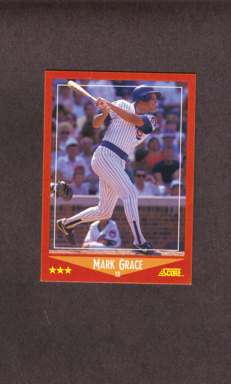 1988 Score Traded # 80-T Mark Grace Chicago Cubs Rookie