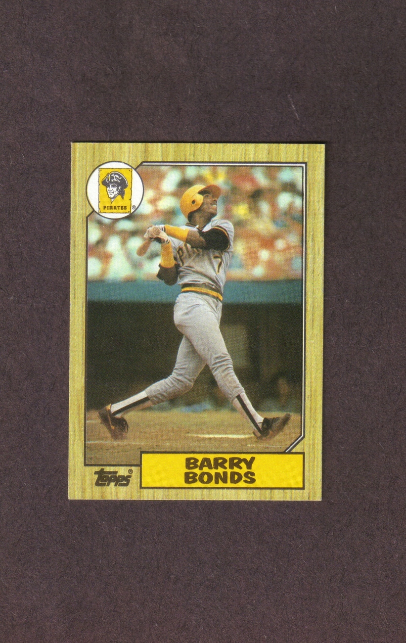1987 Topps # 320 Barry Bonds Rookie Pittsburgh Pirates