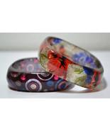 Set Of 2 ( 2 Pieces Bracelet ) Colorfull Resin-Bangles Bracelet  - $14.50