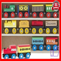 12pcs wooden train toy for kids Compatible with Thomas Train Set Tracks Magnetic - $77.20
