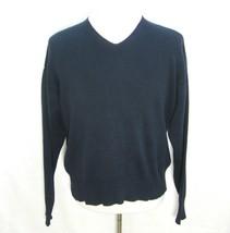 J. CREW Men's Dark Blue V-Neck Pullover Sweater (Size Medium) 100% Cotto... - $9.95