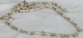 Silver and metal necklace unisex - $80.00