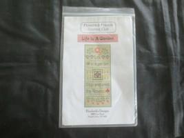 Elizabeth's Designs Life Is A Garden Cross Stitch Kit w/Thread & Charm - $8.91